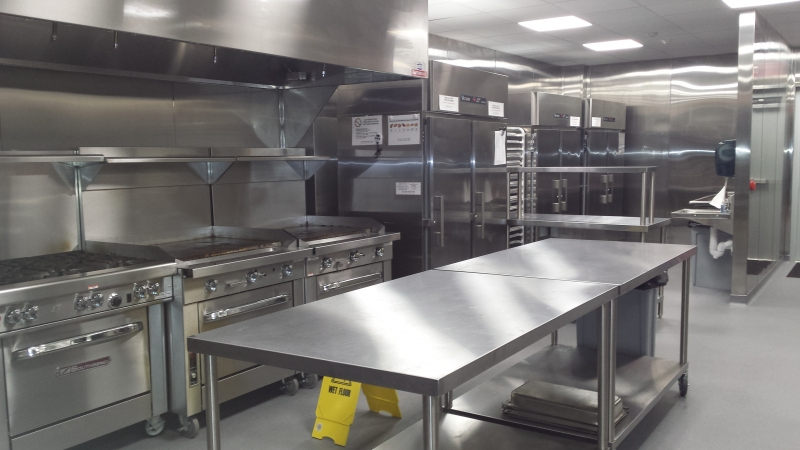 Commercial Kitchen Construction : Commercial kitchen at cardinal dinardo center jerry horn