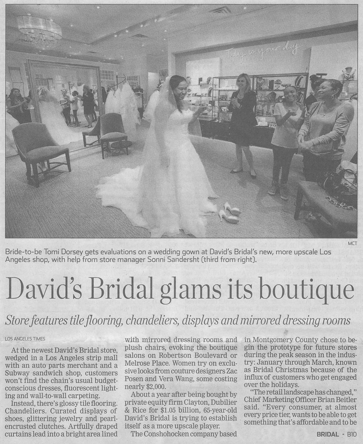 David's Bridal Glams its Boutique